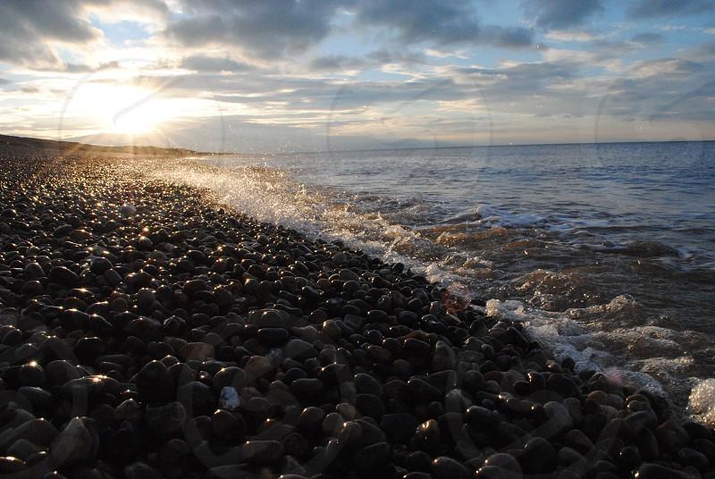 Sunset on the beach (North Norfolk)  photo