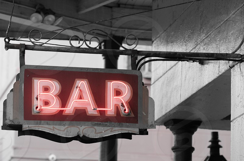 A bar sign in New Orleans. photo