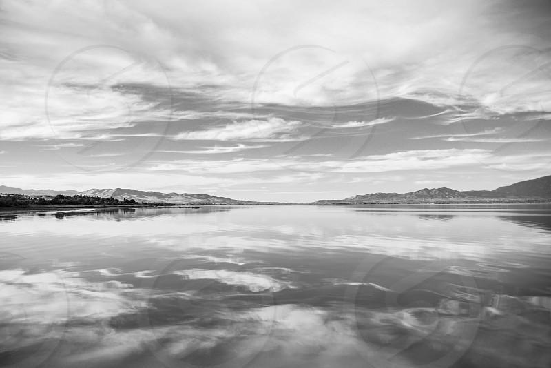 Utah Lake reflection photo