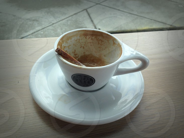 Empty cup of coffee! photo