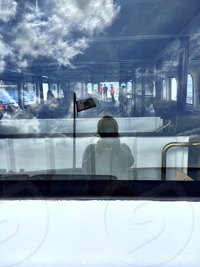 reflections on SFO ferry photo