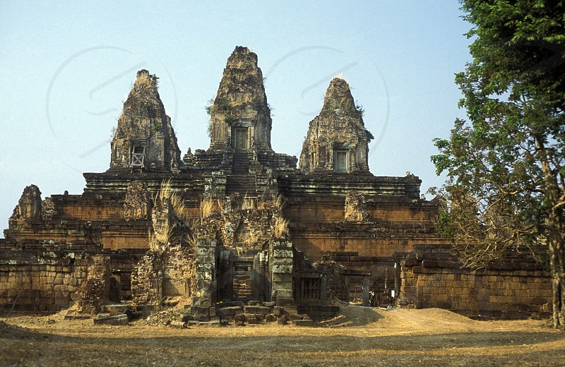 the Pre Rup temple in Angkor at the town of siem riep in cambodia in southeastasia.  photo