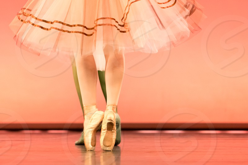 Classical Ballet Dancers Feet In Pointe Shoes By Angel Eyes Photo Stock Snapwire
