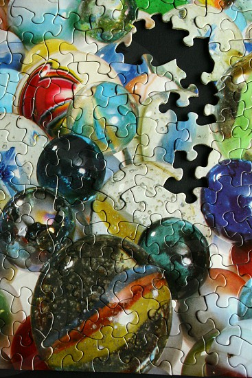 marble ball puzzle pieces photo