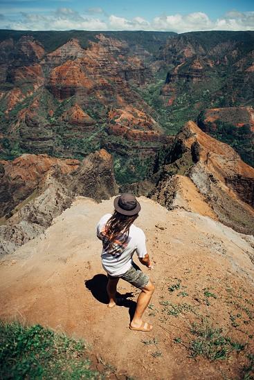 Kauai home view mountain family friend vacation summer paradise canyon photo