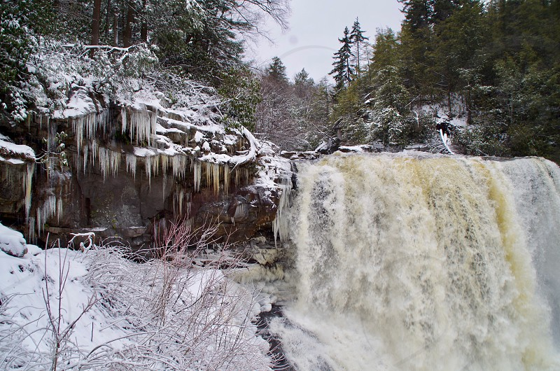 Blackwater Falls in winter Blackwater Falls State Park WV photo