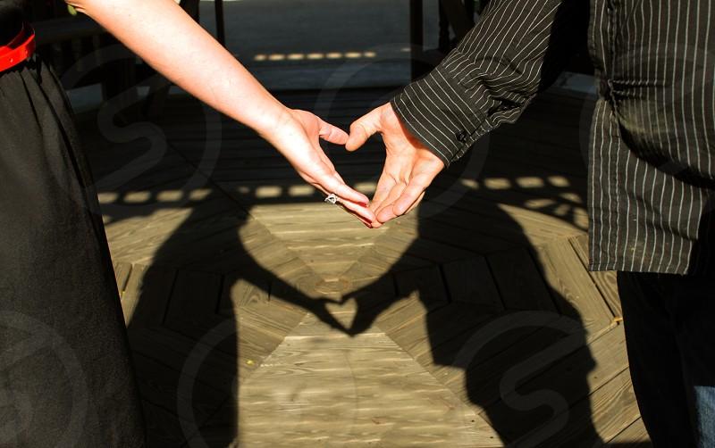 love shadows hearts photo
