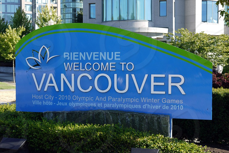 welcome to vancouver olympic host city sign photo