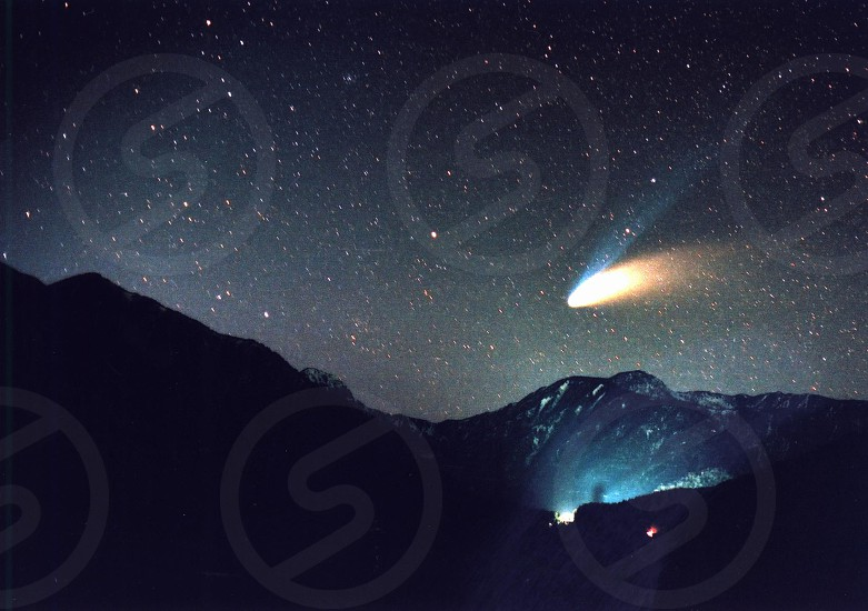 Comet Hale-Bopp1997y in Nikko photo