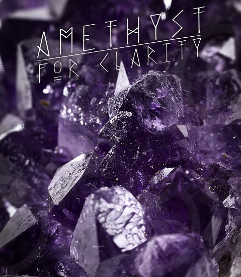 Amethyst for clarity photo