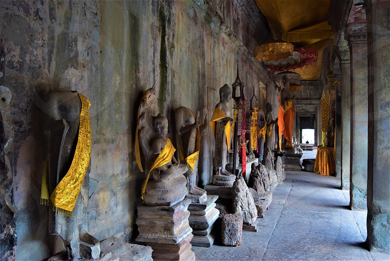 Statues in the Angkor Wat Siem Reap Cambodia  photo