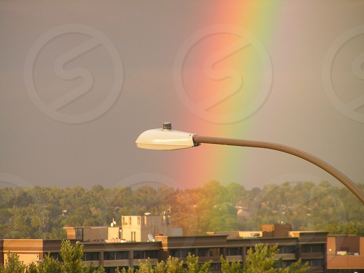 The gold at the end of the rainbow is a bank building photo