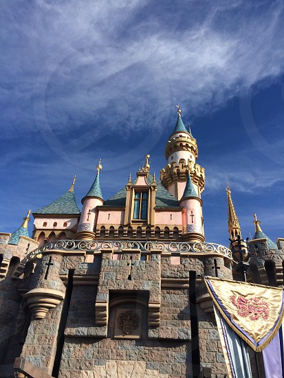 Cinderella's castle. Disneyland photo