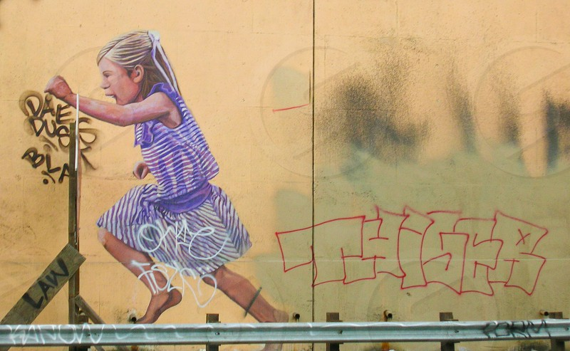 Los Angeles Freeway Graffiti photo