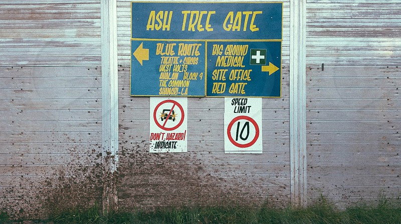 ash tree gate beach sign photo