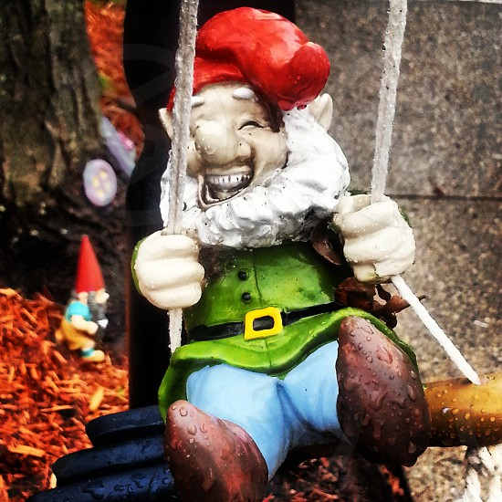 Whimsical gnomes in action.. photo