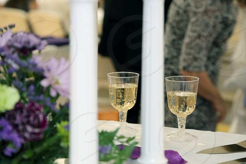 wedding toast glasses champagne  photo