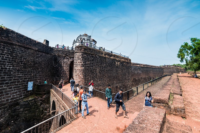 Fort Aguada and its lighthouse is a well-preserved and world heritage site 7th Century Portuguese fort standing in Goa India photo