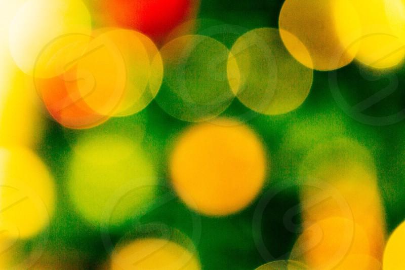 yellow blurred circles photo