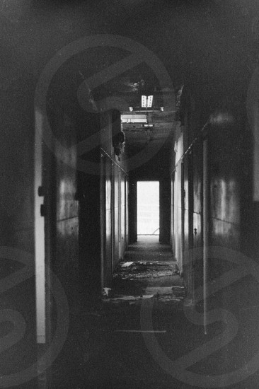 derelict jail corridor dark abandoned film photo