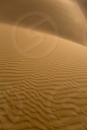 Desert sand dunes texture in Maspalomas Gran Canaria at Canary islands photo