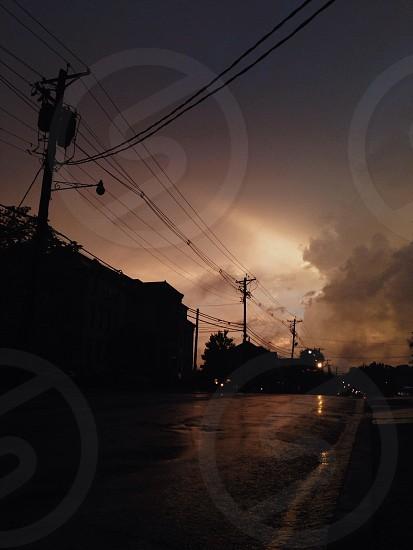 black electrical post photo