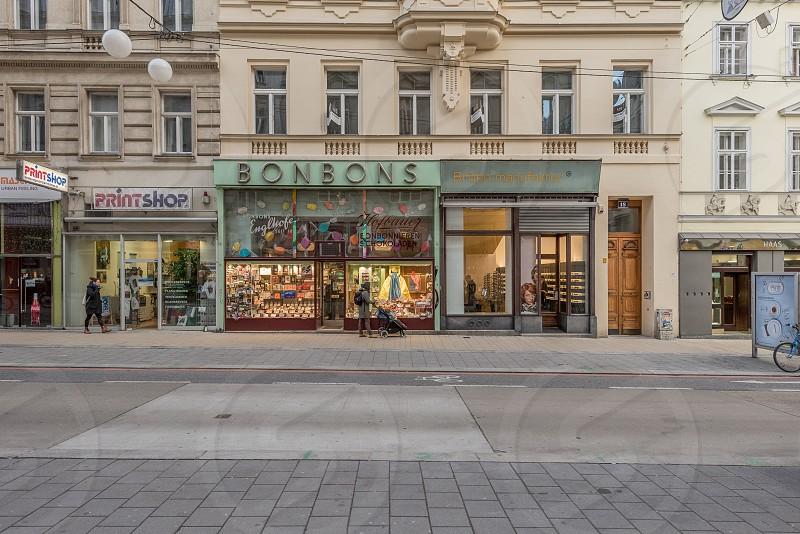 Vienna Neubau hip shops on Neubaugasse. photo