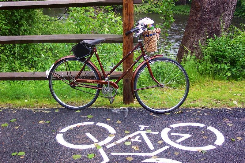 Bike path Cumberland Rhode Island photo