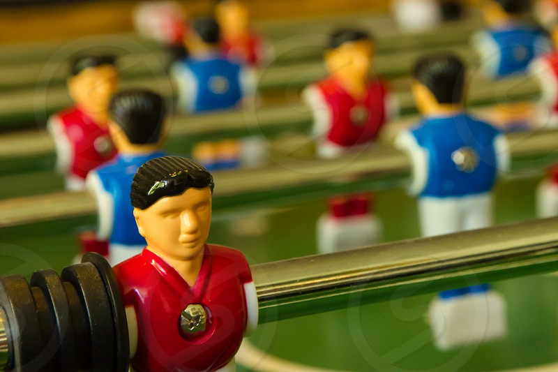 Table Football Game in Close up photo