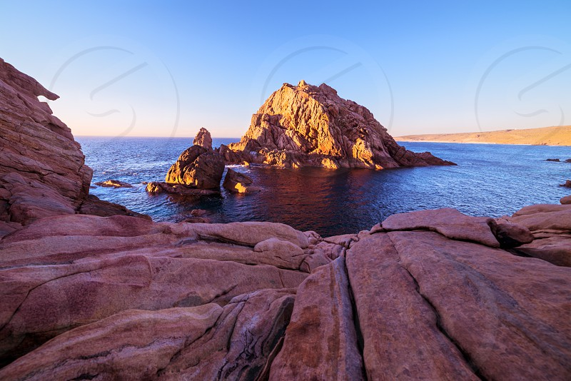 Sugarloaf Rock at sunset photo