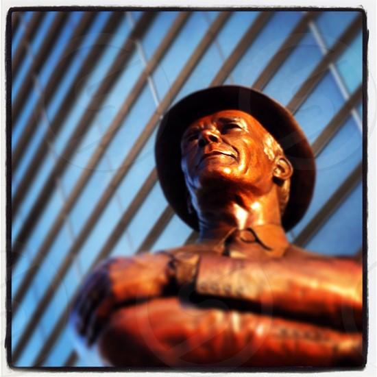 Tom Landry Statue at AT&T Stadium in Arlington TX. photo