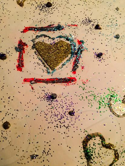 Child glitter art photo