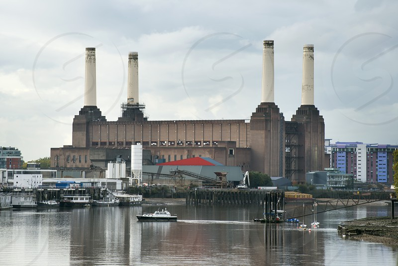 Old building of a thermal power plant in London photo