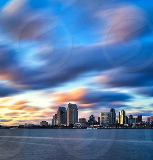 San Diego Skyline seen from Coronado California photo
