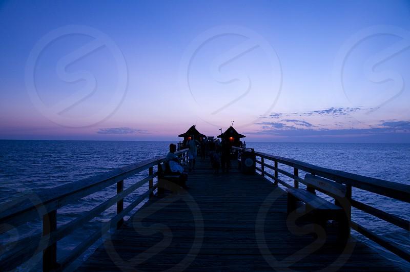 Sunset Sunset in Naples Florida photo