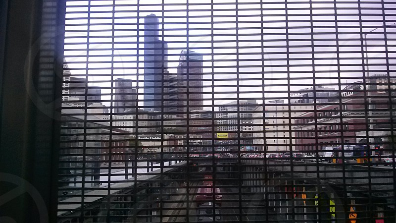 Seattle looking through a grate photo