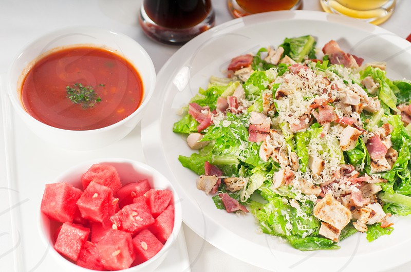fresh classic caesar salad healthy meal MORE DELICIOUS FOOD ON PORTFOLIO photo