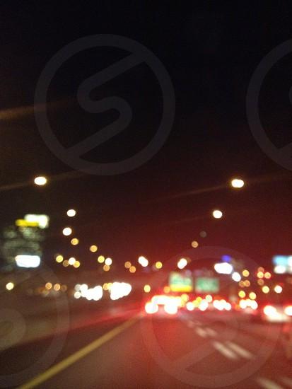 street lights on photo