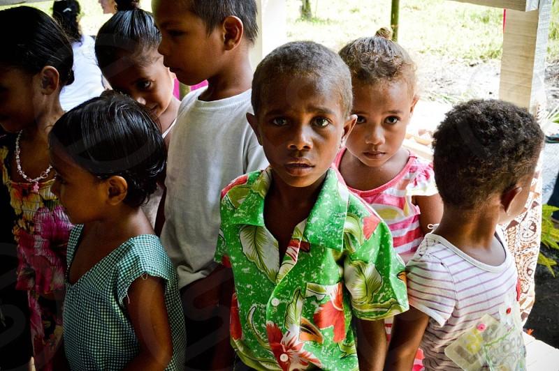 Fijian school children photo