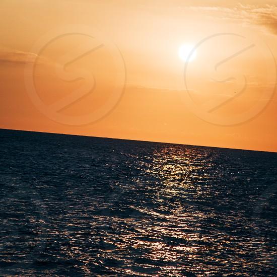 Sunset at Petrou tu Romiu Paphos Cyprus photo