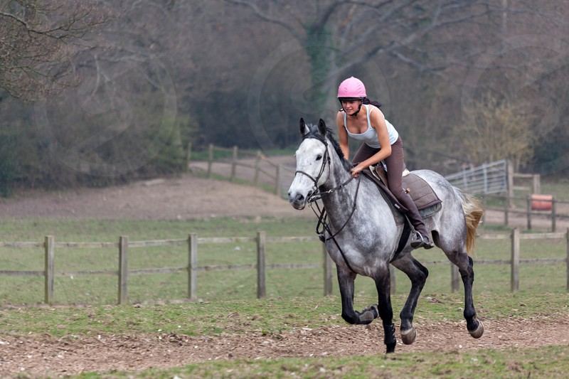 Horse riding near Ashurst Wood West Sussex photo
