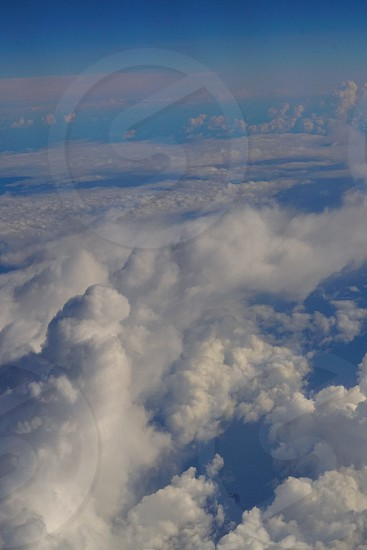 areal photo of white and blue clouds photo