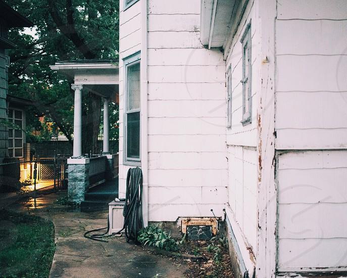 white storey house photo