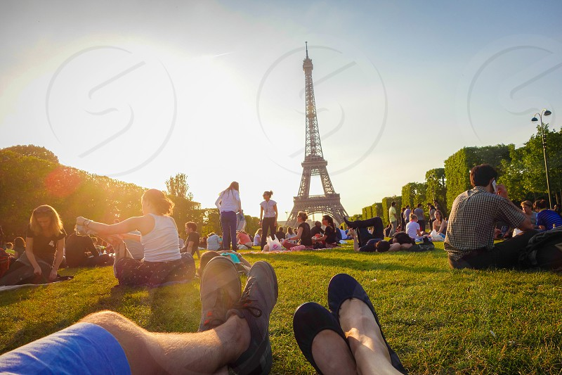 Sunset at the Eiffel Tower photo