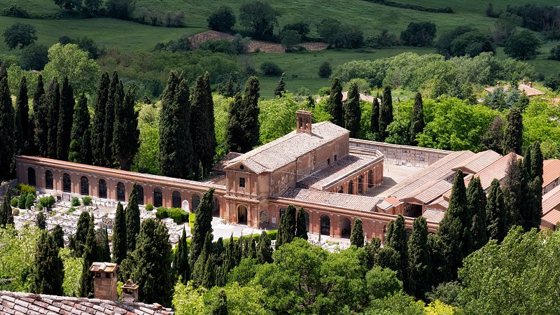 View of the Cemetery near Montepulciano photo