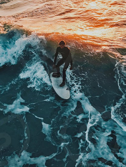 Sunset surfer #ocean #waves #water #art #nature #beautiful #outdoors #travel  photo