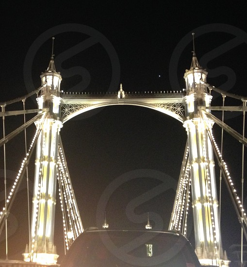 Albert Bridge - The most beautiful bridge at night in London  photo