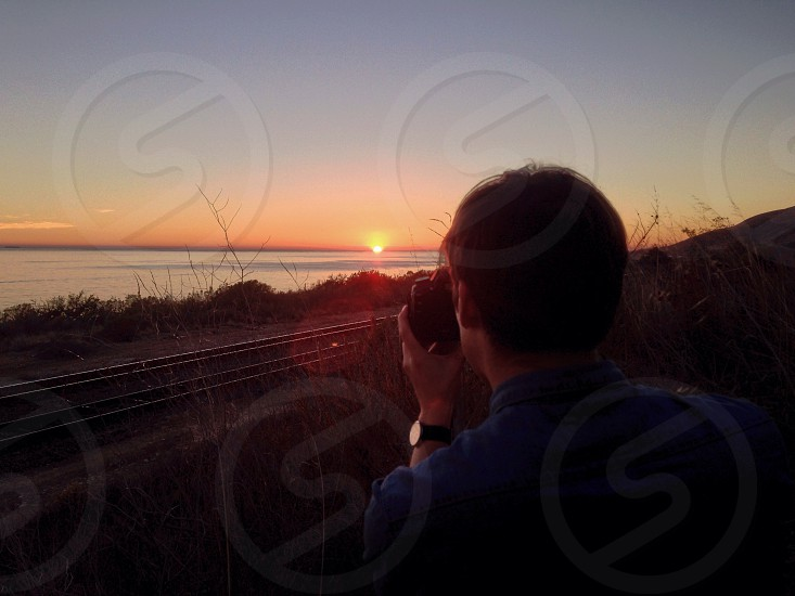 sunset panoramic view photo