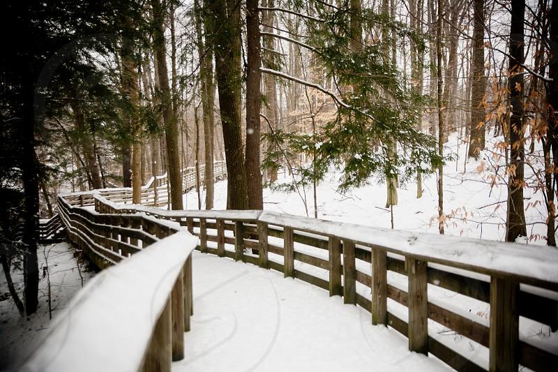 Ohio's Brandywine Falls in the snow. photo