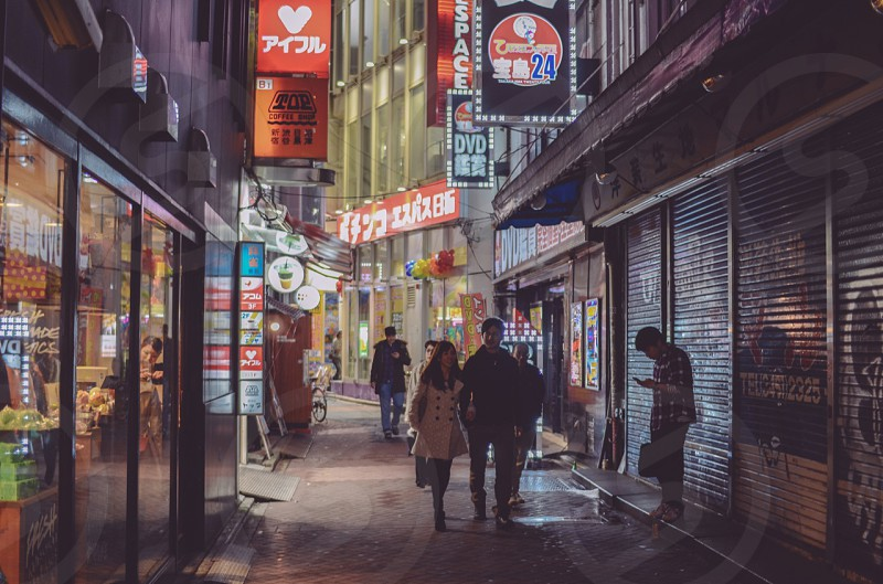 Alleyway in Tokyo Japan. photo